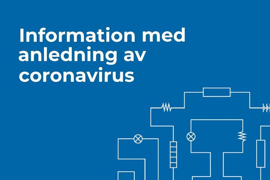 Information med anledning av coronavirus
